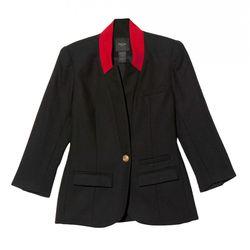 "<b>Smythe</b> Red Lapel Blazer, <a href=""http://otteny.com/red-lapel-blazer.html"">$595<a> at Otte"
