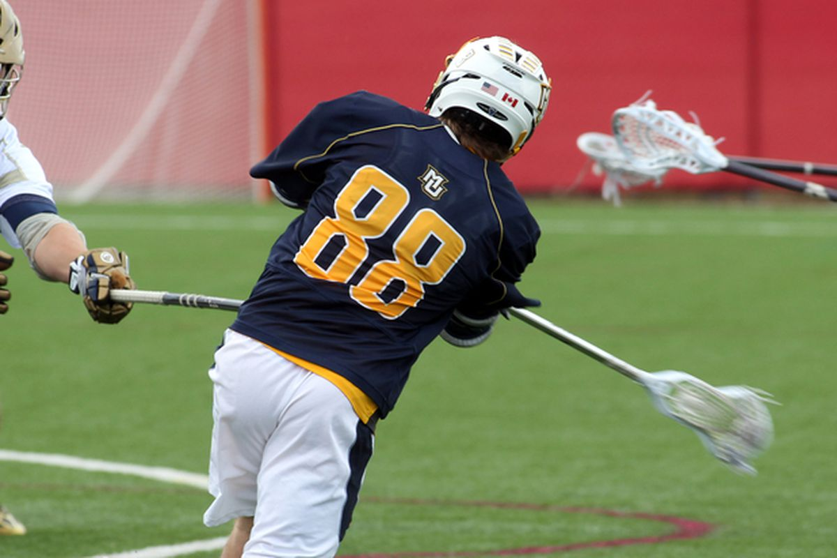 Ryan McNamara only found the back of the net on 1 of his 5 shots on Saturday, but that 1 was the OT game winner for MU.