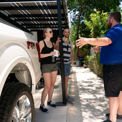Guests learn about the 2018 Ford F-150.