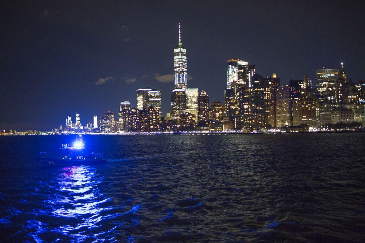 New York Governor Andrew Cuomo's inauguration on Ellis Island