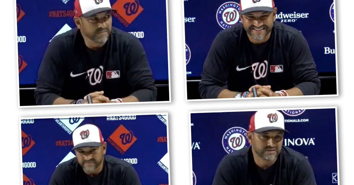 Washington Nationals news & notes: Davey Martinez on Roberto Clemente Day; resting young players, and watchin… - Federal Basebal