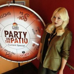 Hayley Hasselhoff at Cabo Wabo Cantina.