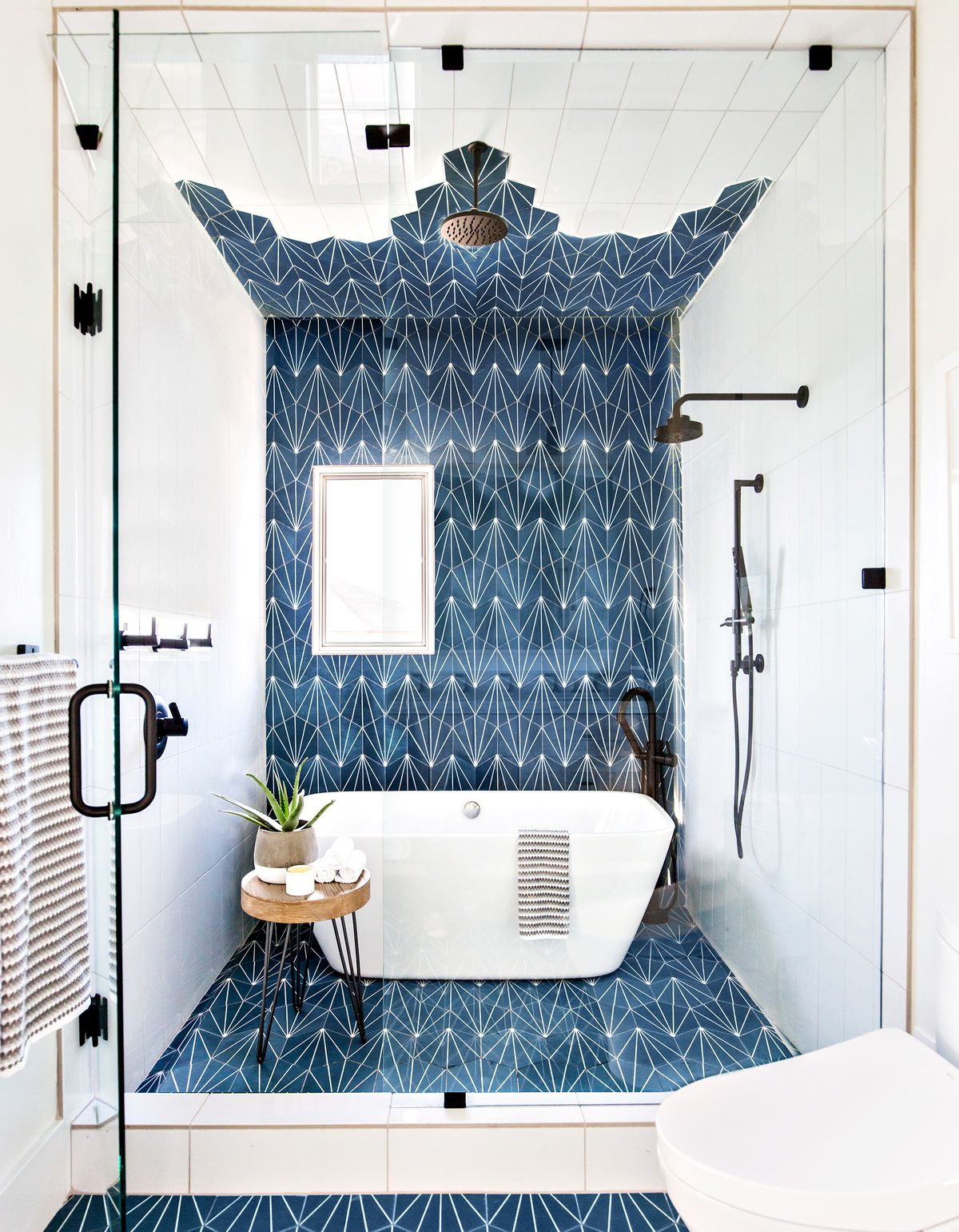 Wet area room in a bathroom