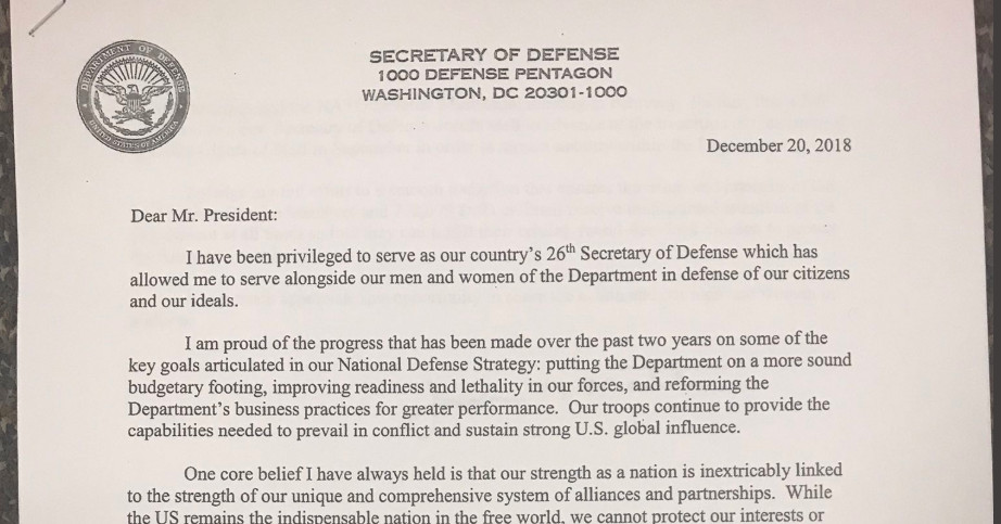 james mattis quits read his resignation letter critiquing trump vox