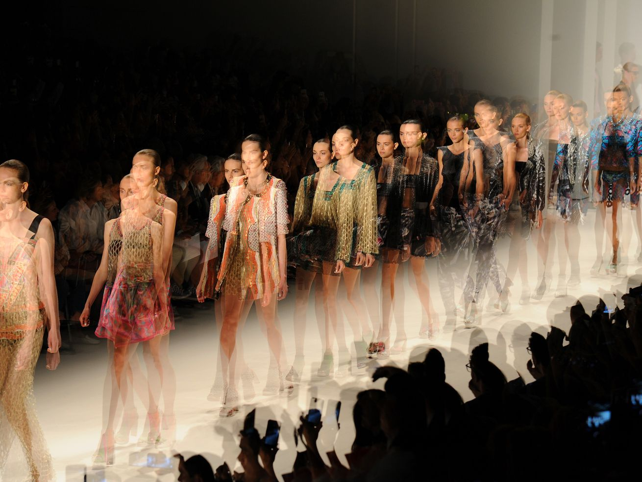 Models walk the runway at the Cusco Barcelona show at New York Fashion Week in September 2014.