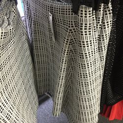 White and black pattern skirt, $99 (was $245)