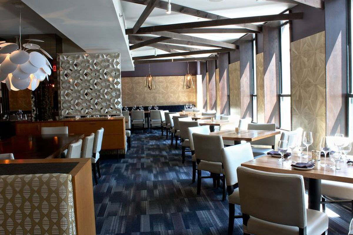 The post-renovation upstairs dining room at Forum