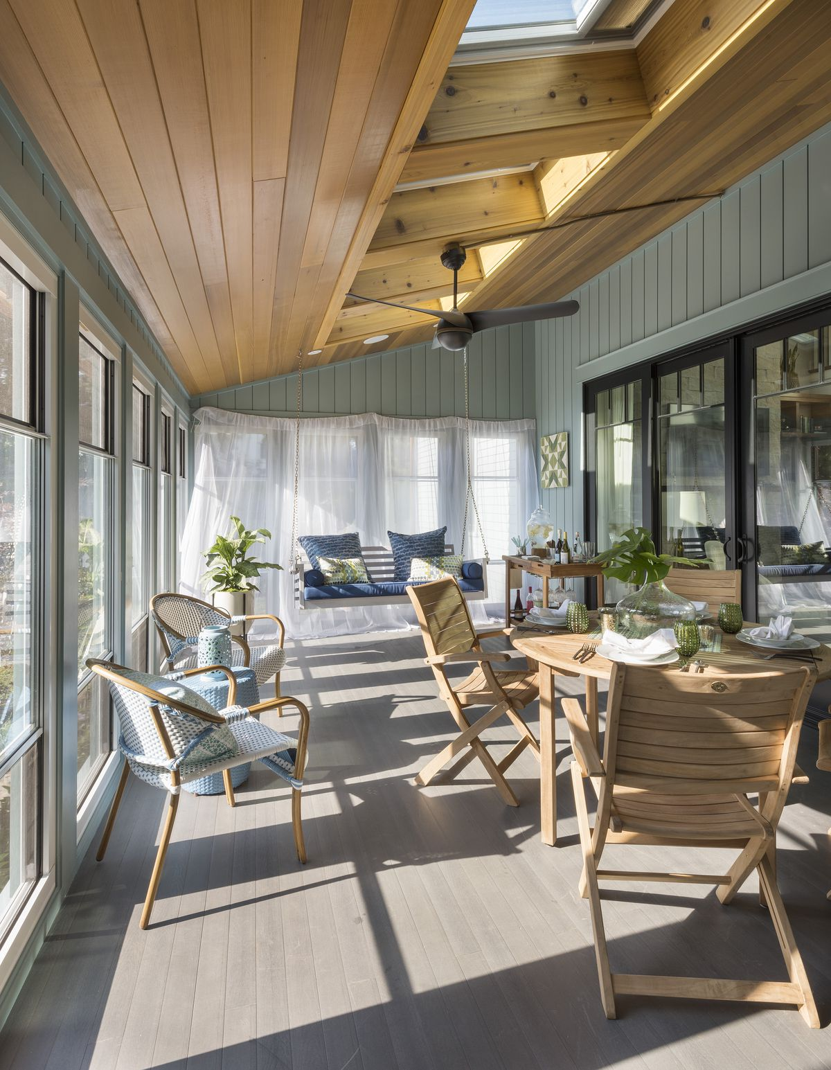 Screened-in porch at the TOH 2018 IdeaHouse