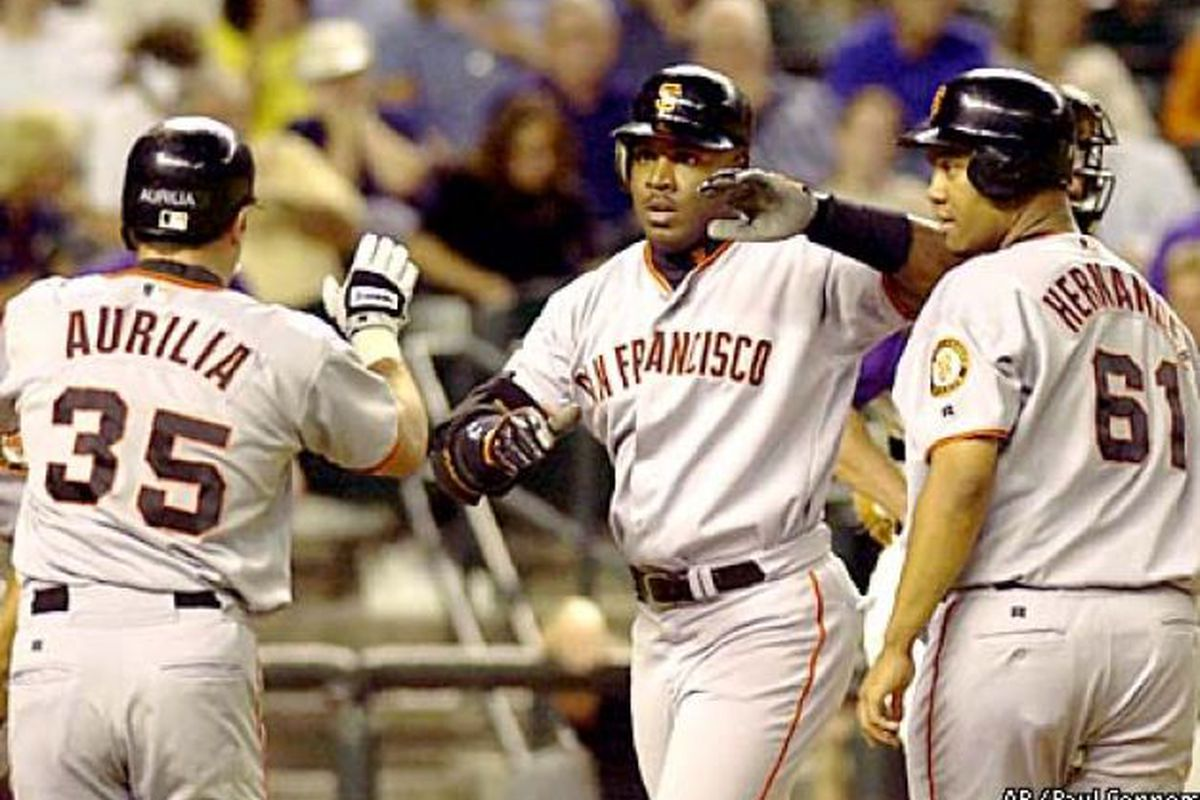 This trio went 7-12, 2 HR (all Barry's), 6 RBI, 6 runs scored /fights back tears