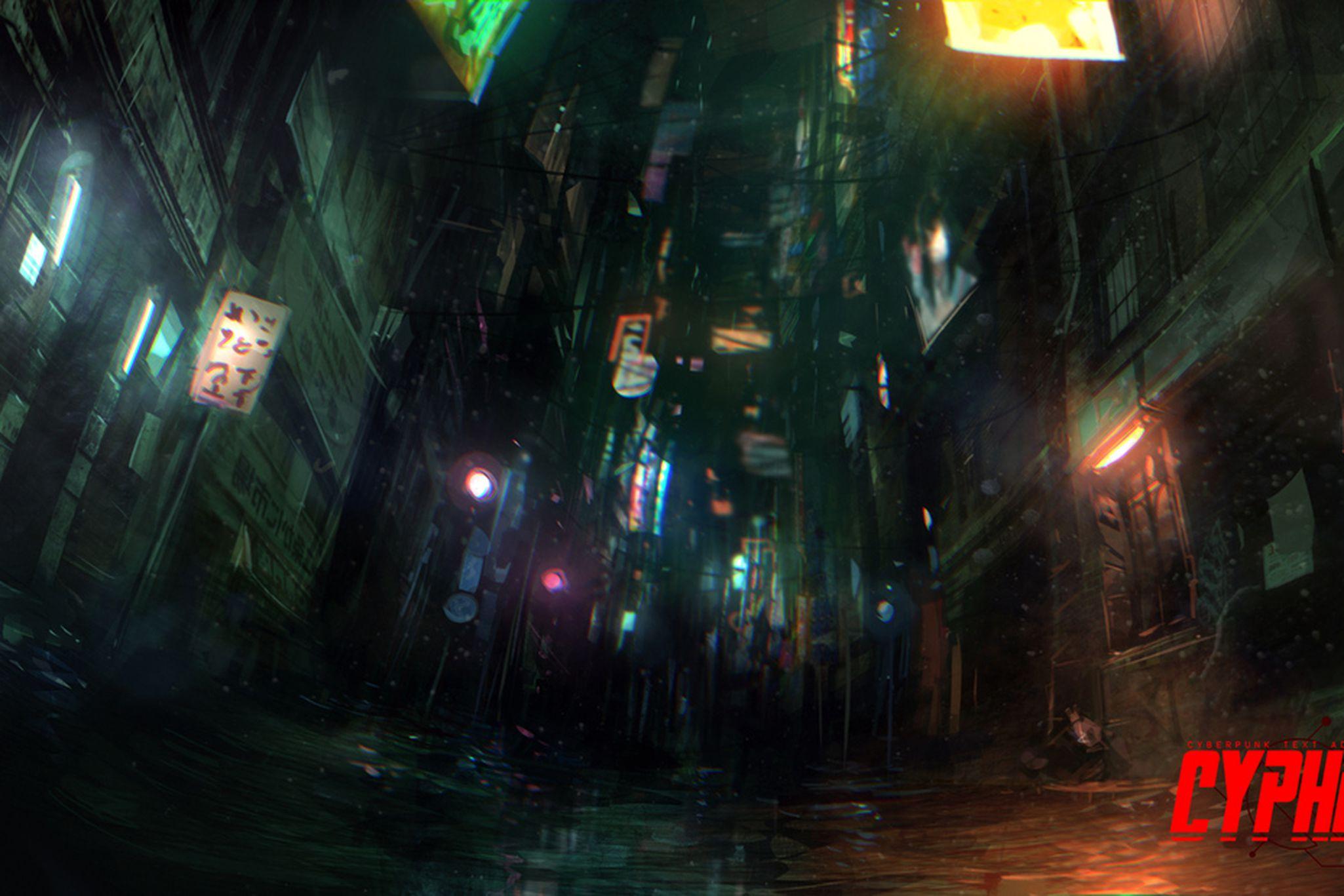 Cyberpunk meets interactive fiction: the art of 'Cypher