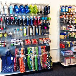 Near the cash wrap is a huge wall of tiny items you may want to throw in your cart last minute.