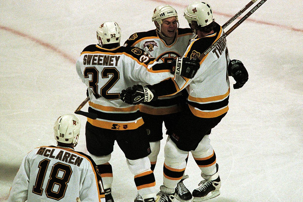 Hugs all around for Don Sweeney