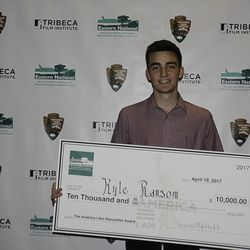 """Kyle Ransom of Logan, Utah, was the grand prize winner of """"The America I Am"""" national youth film competition presented by the Tribeca Film Institute."""