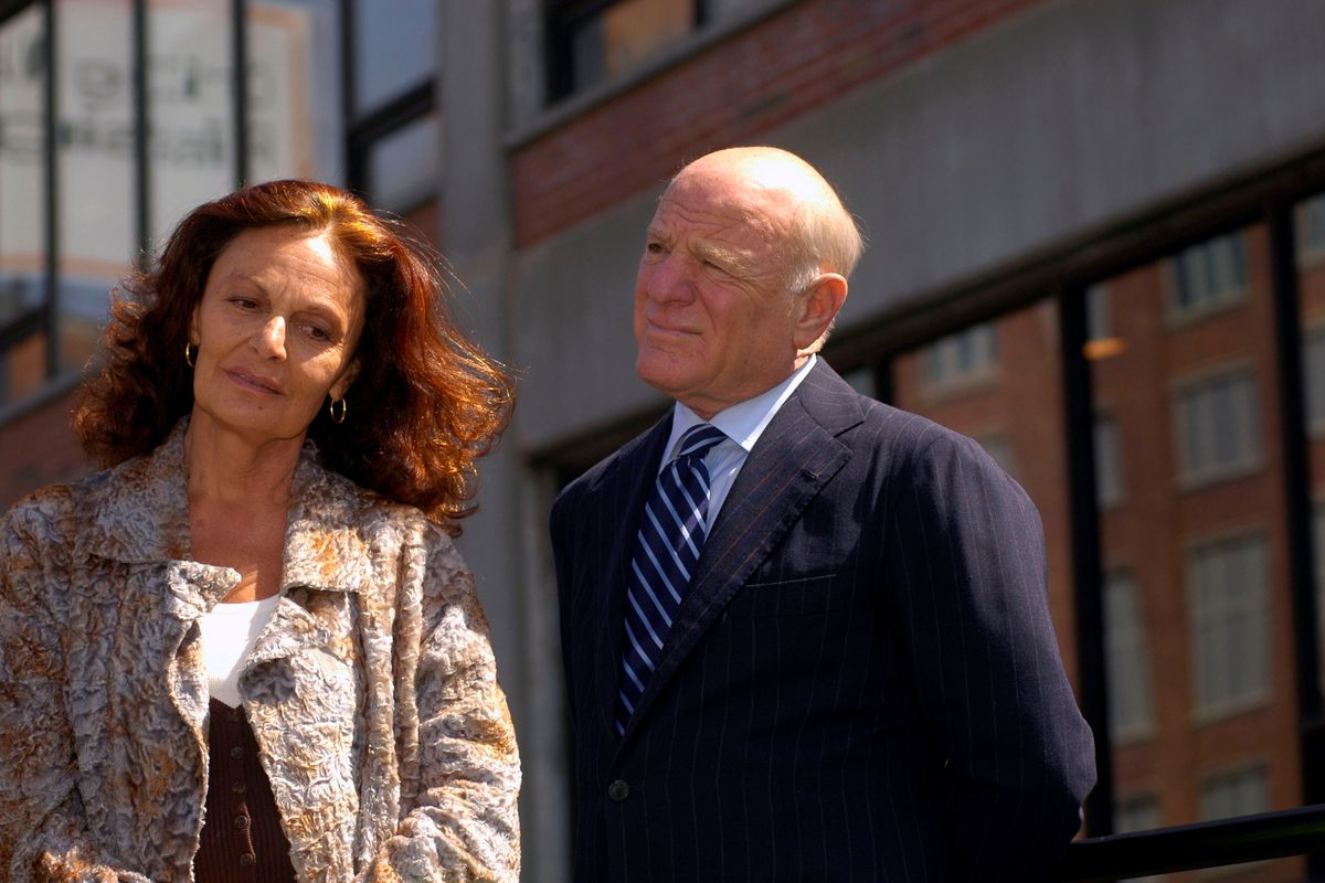 (L-R) Fashion Designer Diane Von Furstenberg and IAC/Interactive Corp CEO Barry Diller, seen at the groundbreaking ceremony for the High Line Park in New York, NY on April 10, 2006.