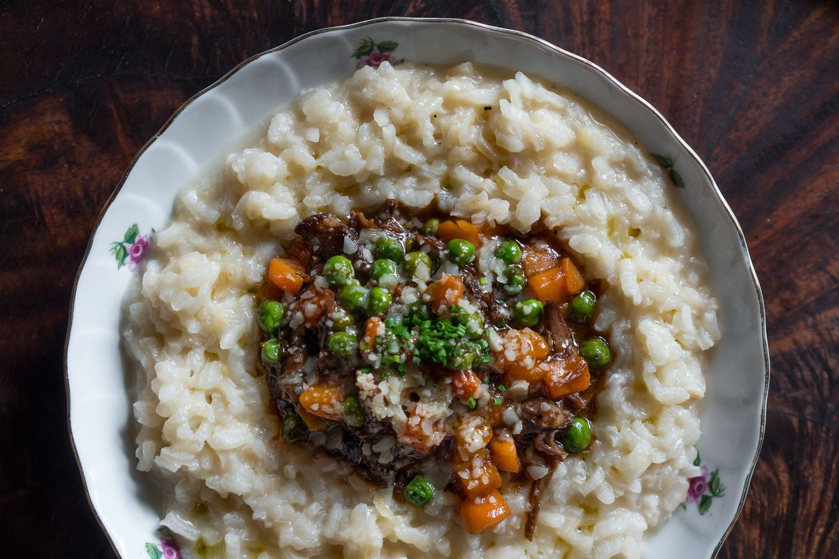 Braise short ribs risotto at Old Soul