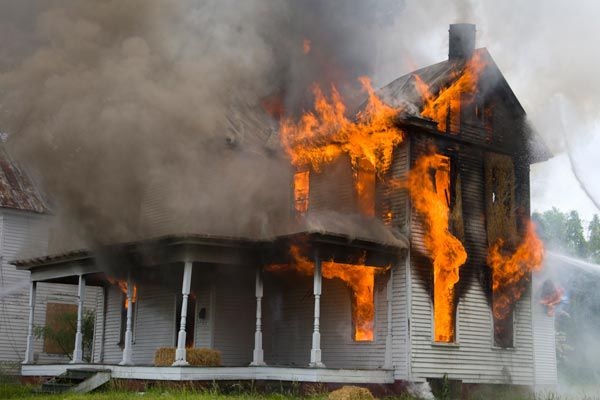 Flames Coming Out Of House