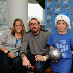 Hedo Turkoglu visits children at the Walt Disney Pavilion at Florida Hospital for Children