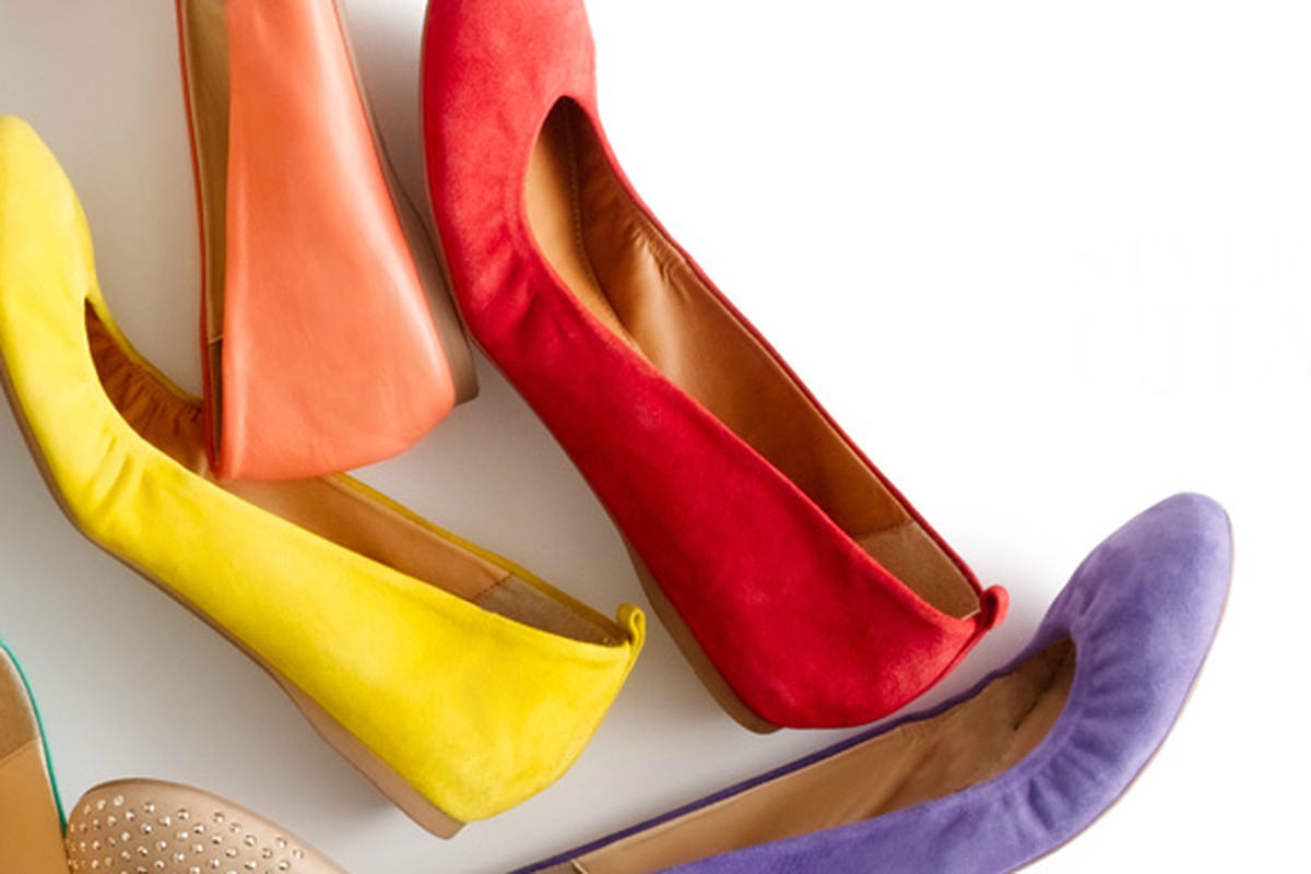 The ballet flat everyone is wearing, or at least buying, via J.Crew
