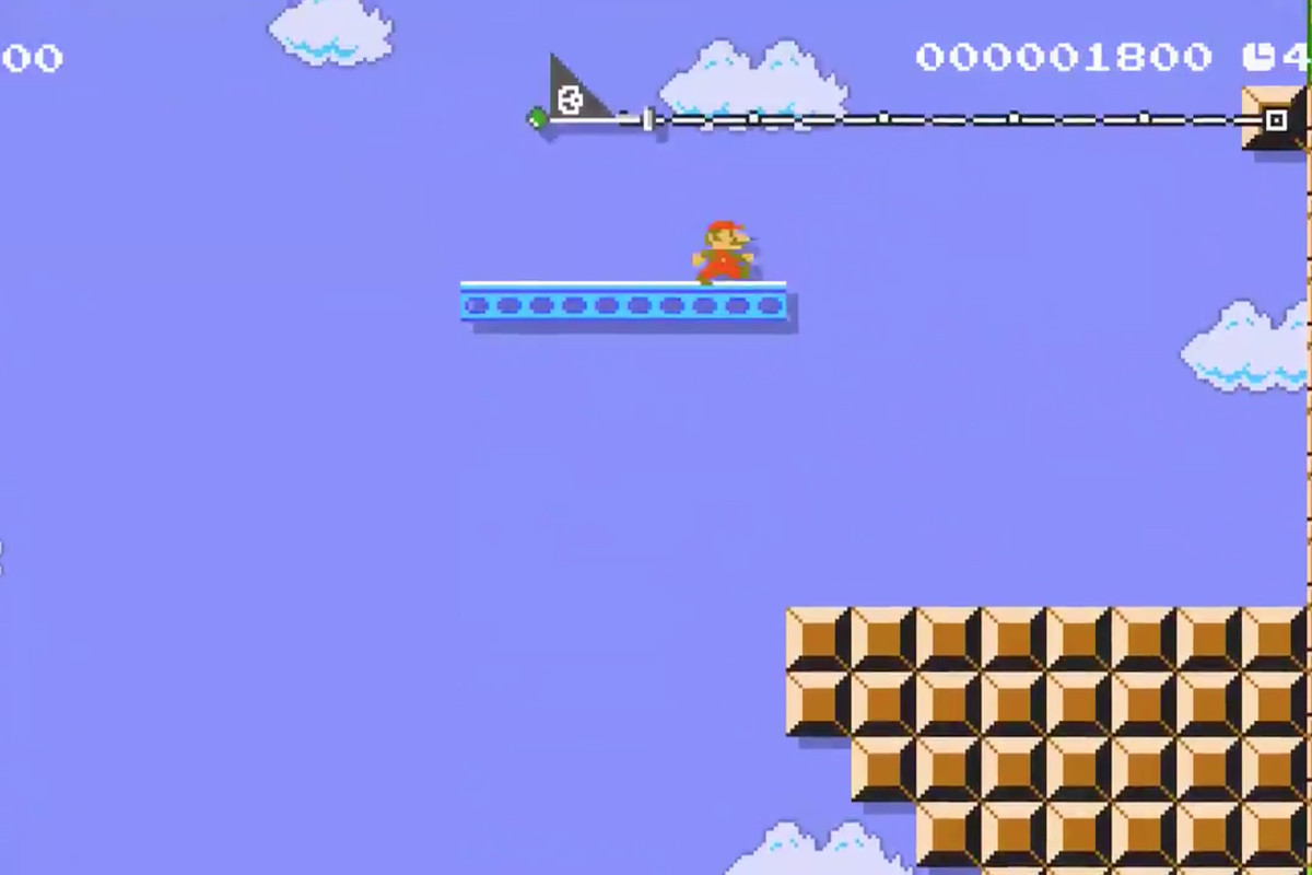 Super Mario Maker 2 level turns World 1-1 on its side - Polygon