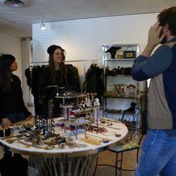 """After hanging out for a bit at Scout, we head to our first stop: <a href=""""http://www.mariemonsod.com/"""">Marie Monsod</a>'s private vintage showroom on West Third Street, just a few blocks from The Grove. On a typical day, the guys hit up as many as five to"""