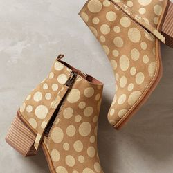 """<b>67 Collection</b> booties, <a href=""""http://www.anthropologie.com/anthro/product/shopsale-shoes/32927212.jsp#/"""">$72</a> (from $220)"""