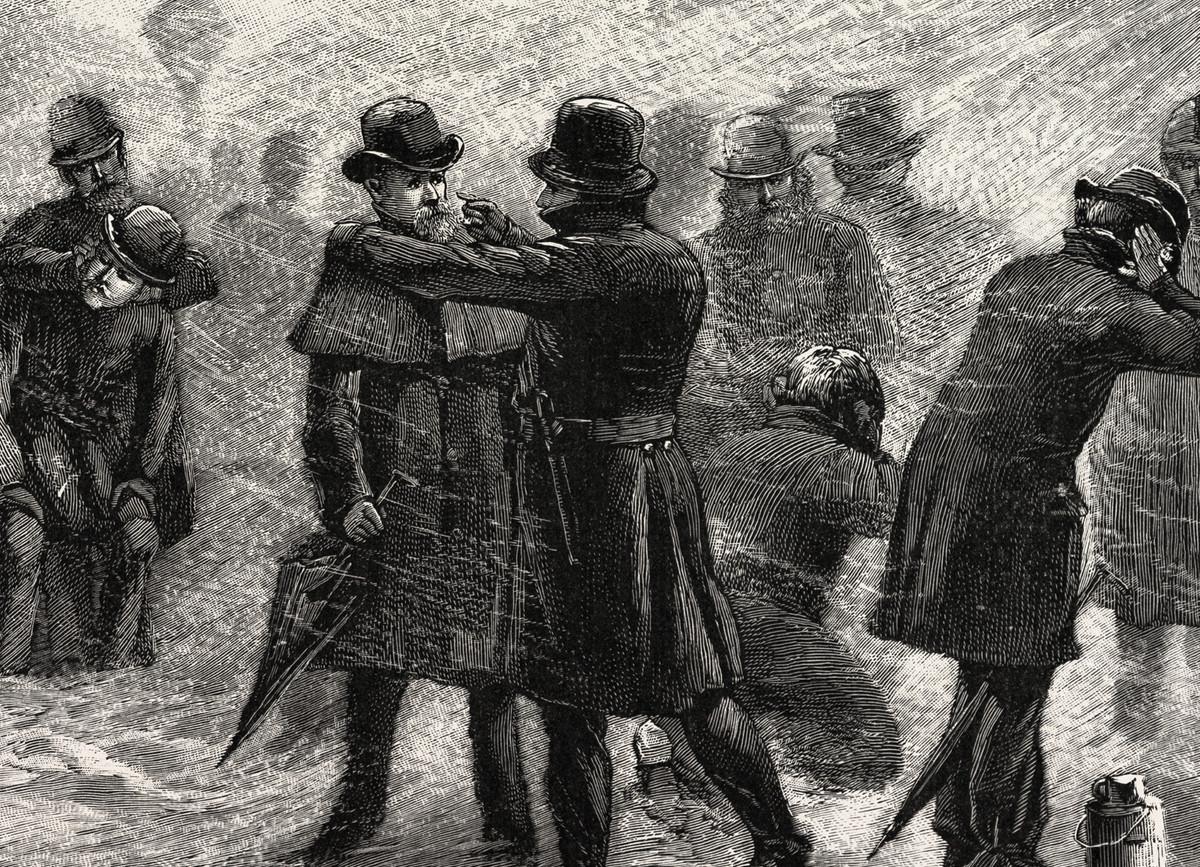 Police in the blizzard