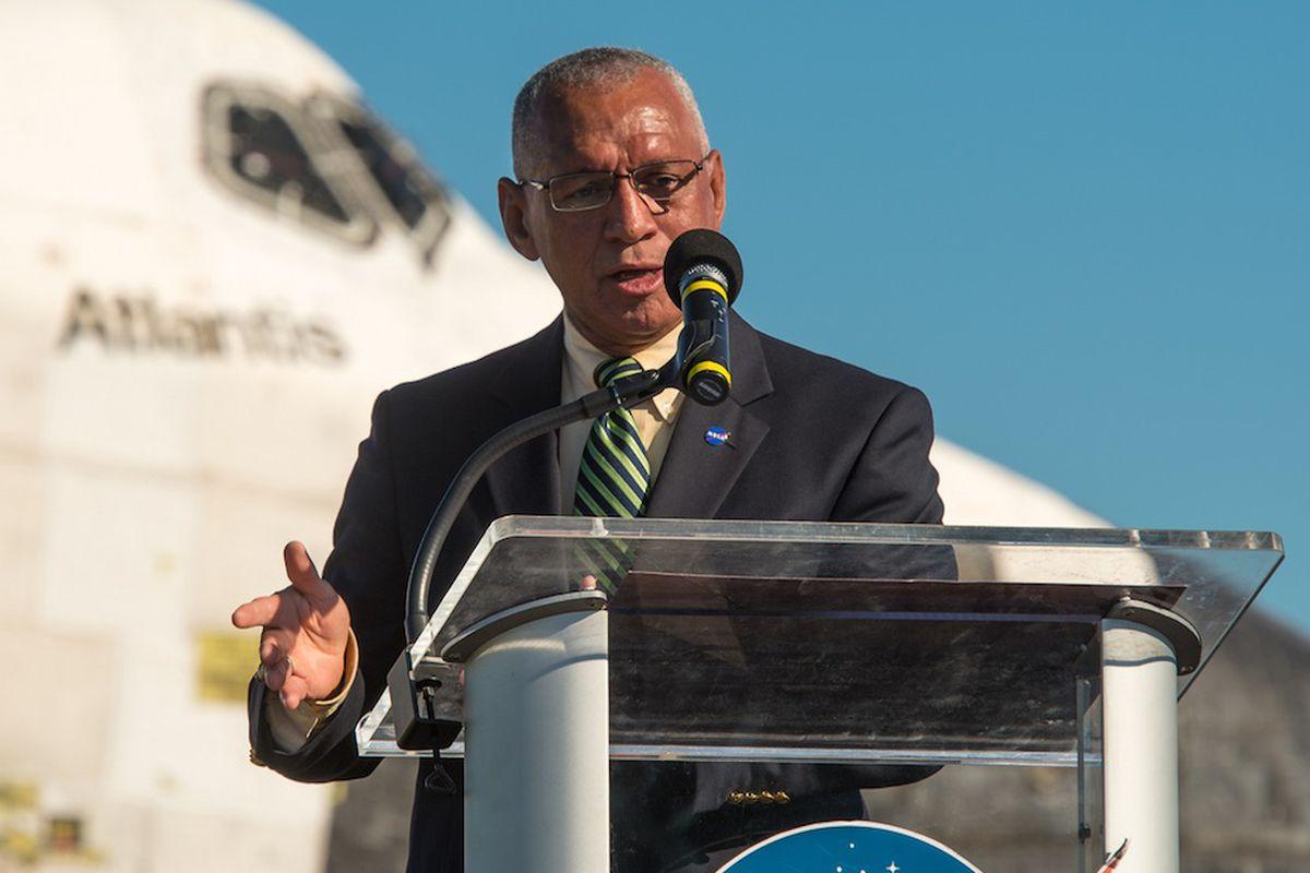 NASA Administrator Charles Bolden at Shuttle retirement (Credit: NASA/Bill Ingalls-Flickr)