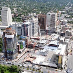 The LDS Church is overseeing City Creek Center, with retail, residential and office space.