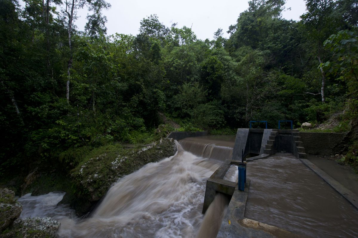 Hydroelectric dam in Sumba, Indonesia