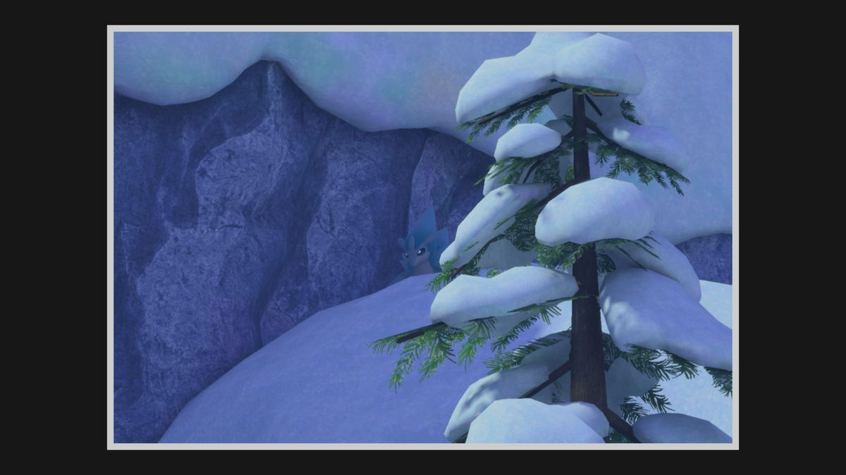 A photo of an Alolan Sandslash on top of a snowy mount