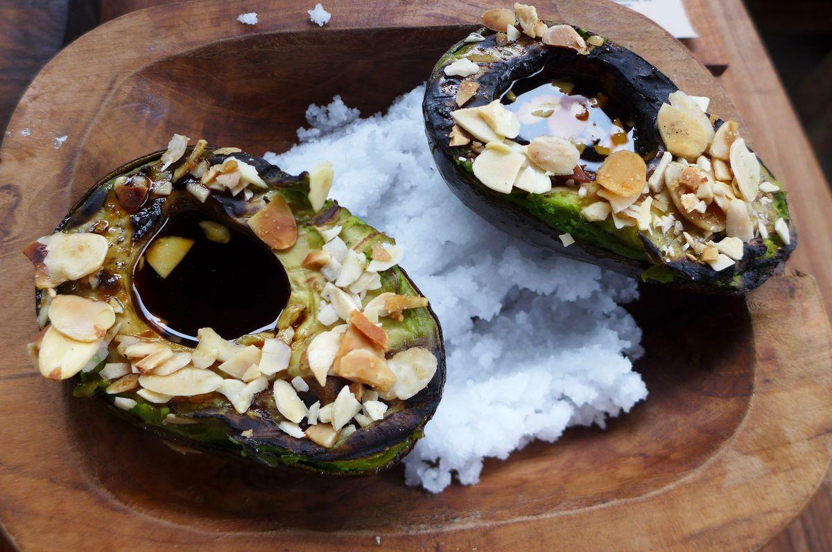 Charred avocado