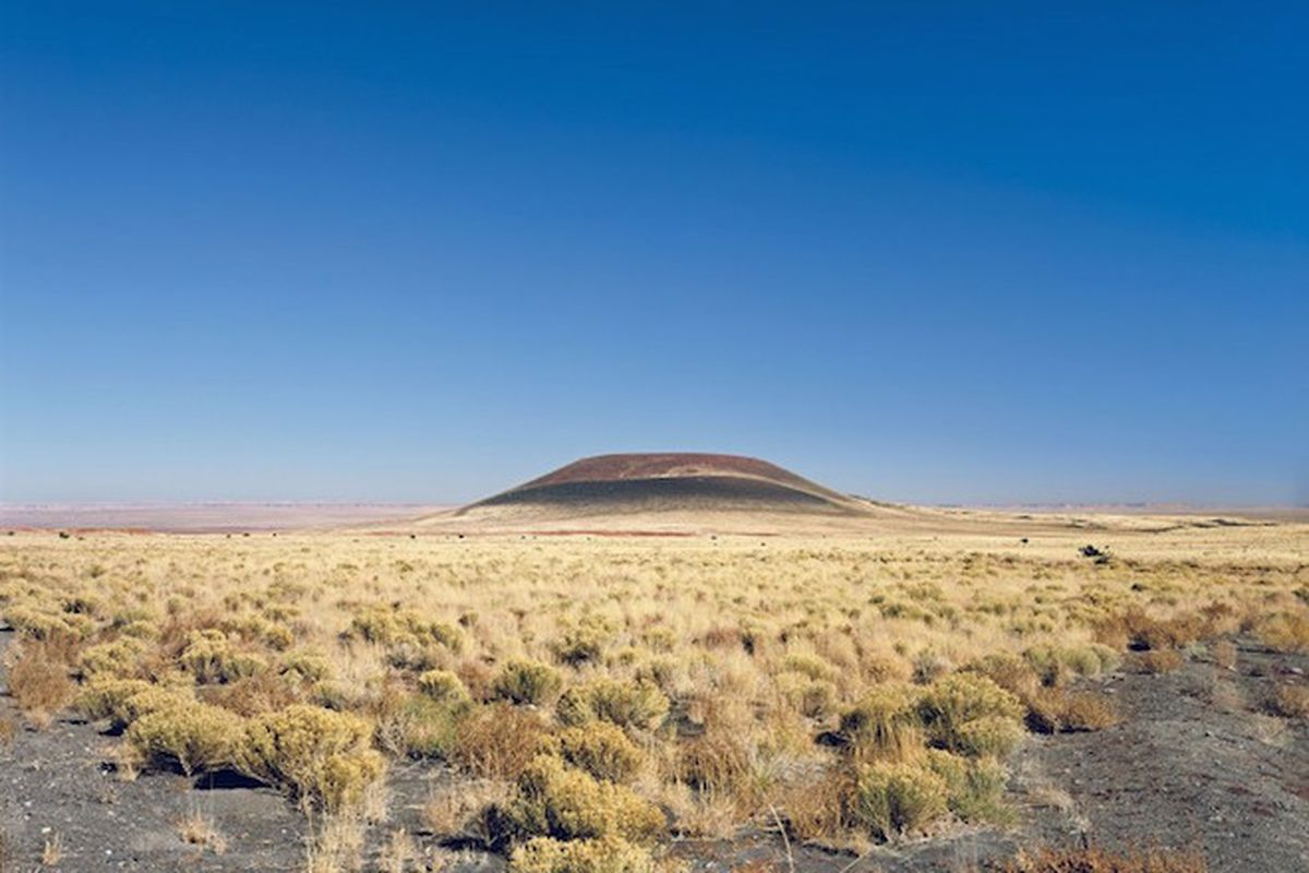The unfinished Roden Crater in Northern Arizona.
