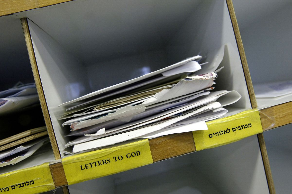 Letters To God Delivered To Israeli Post Office