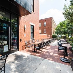 The outdoor patio at Chaplin's that co-founders Ari and Micah Wilder are working on covering up for year-round use.