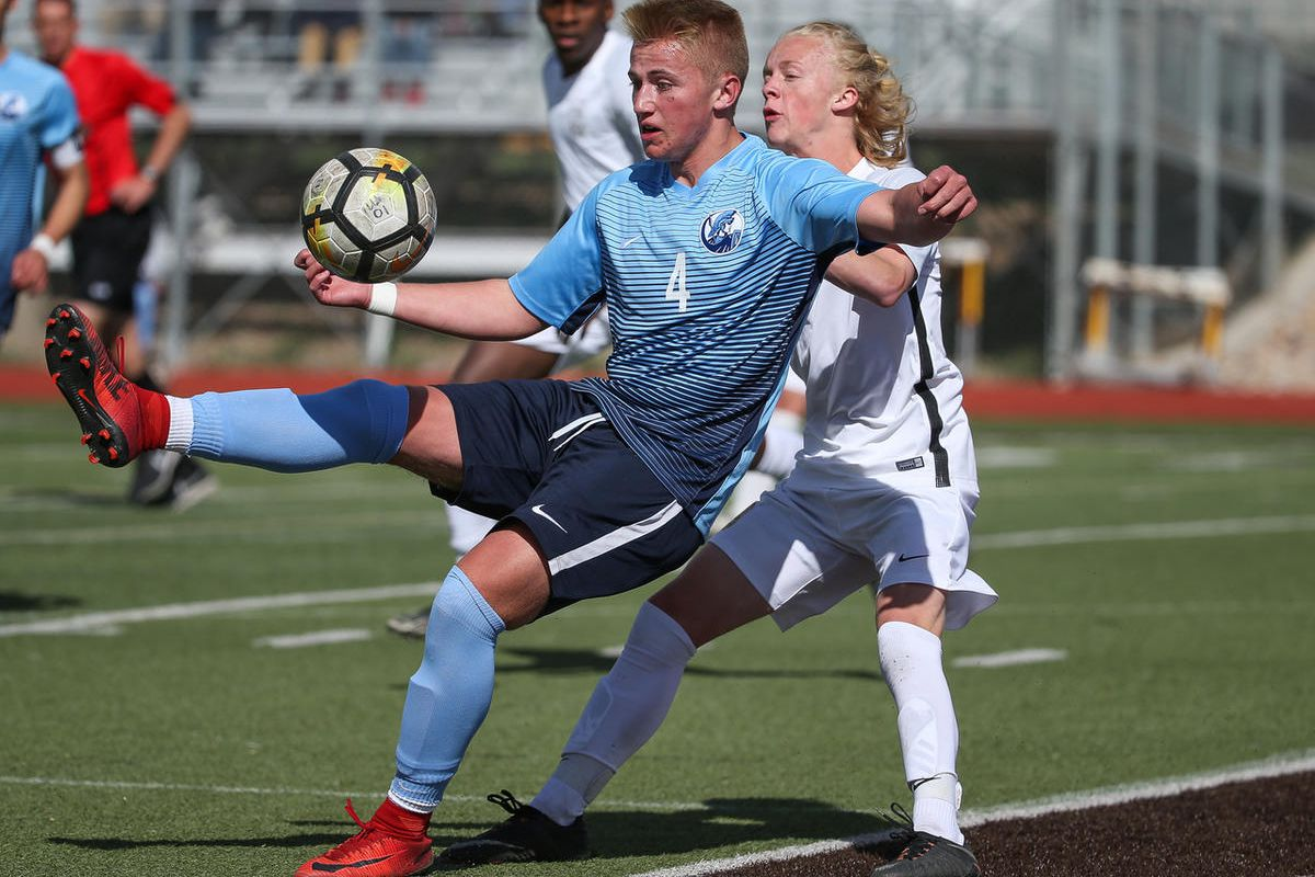 Layton and Davis boys soccer compete at Davis High School in Layton on Tuesday, April 17, 2018.