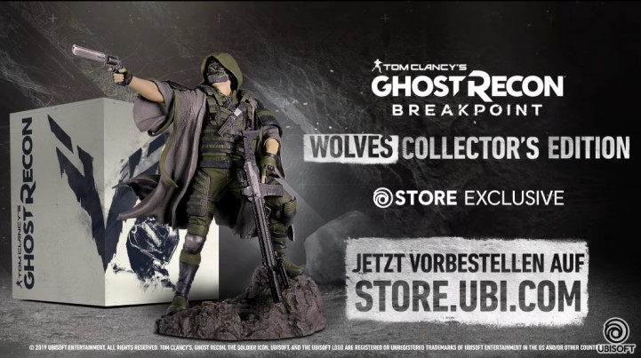 Listing, in German, for a special edition of Ghost Recon Breakpoint, the new game in the Tom Clancy's Ghost Recon series.