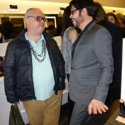 Mickey Boardman chatting it up with M. Nars