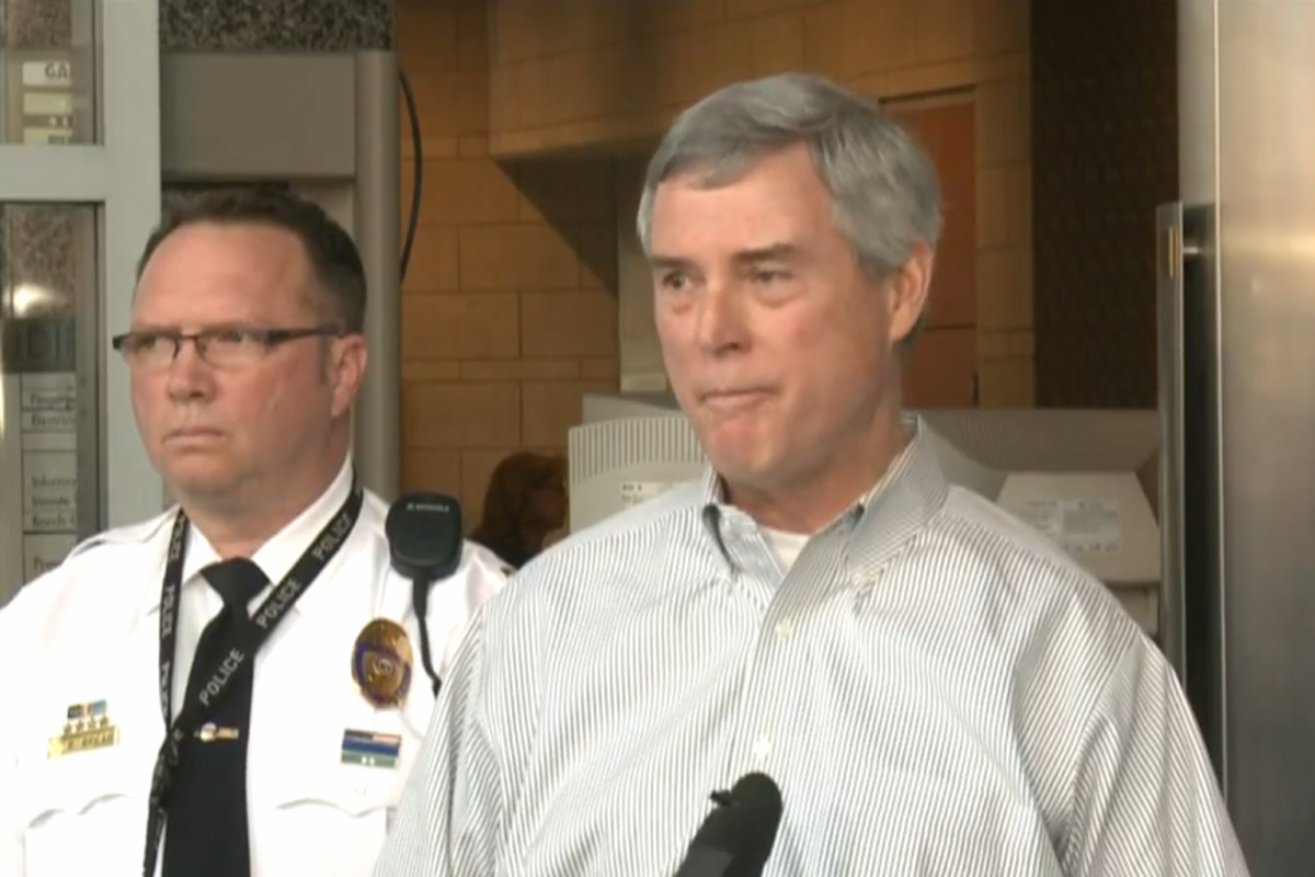 St. Louis County Prosecuting Attorney Robert McCulloch speaks to press.