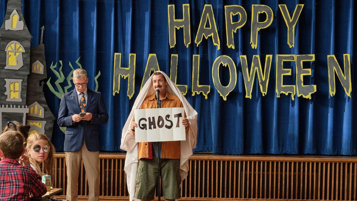 sandler dressed as a ghost