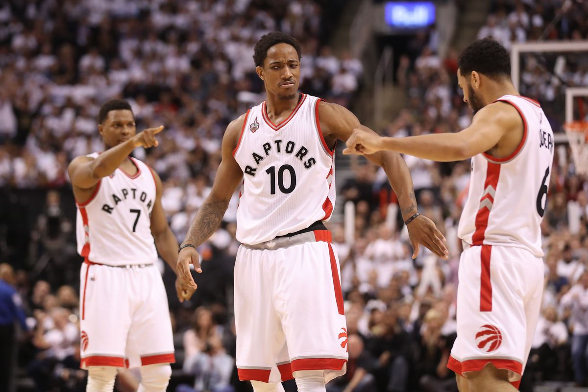 9a6c9e3ee24e NBA playoff scores 2016  Kyle Lowry and DeMar DeRozan finally look like  themselves