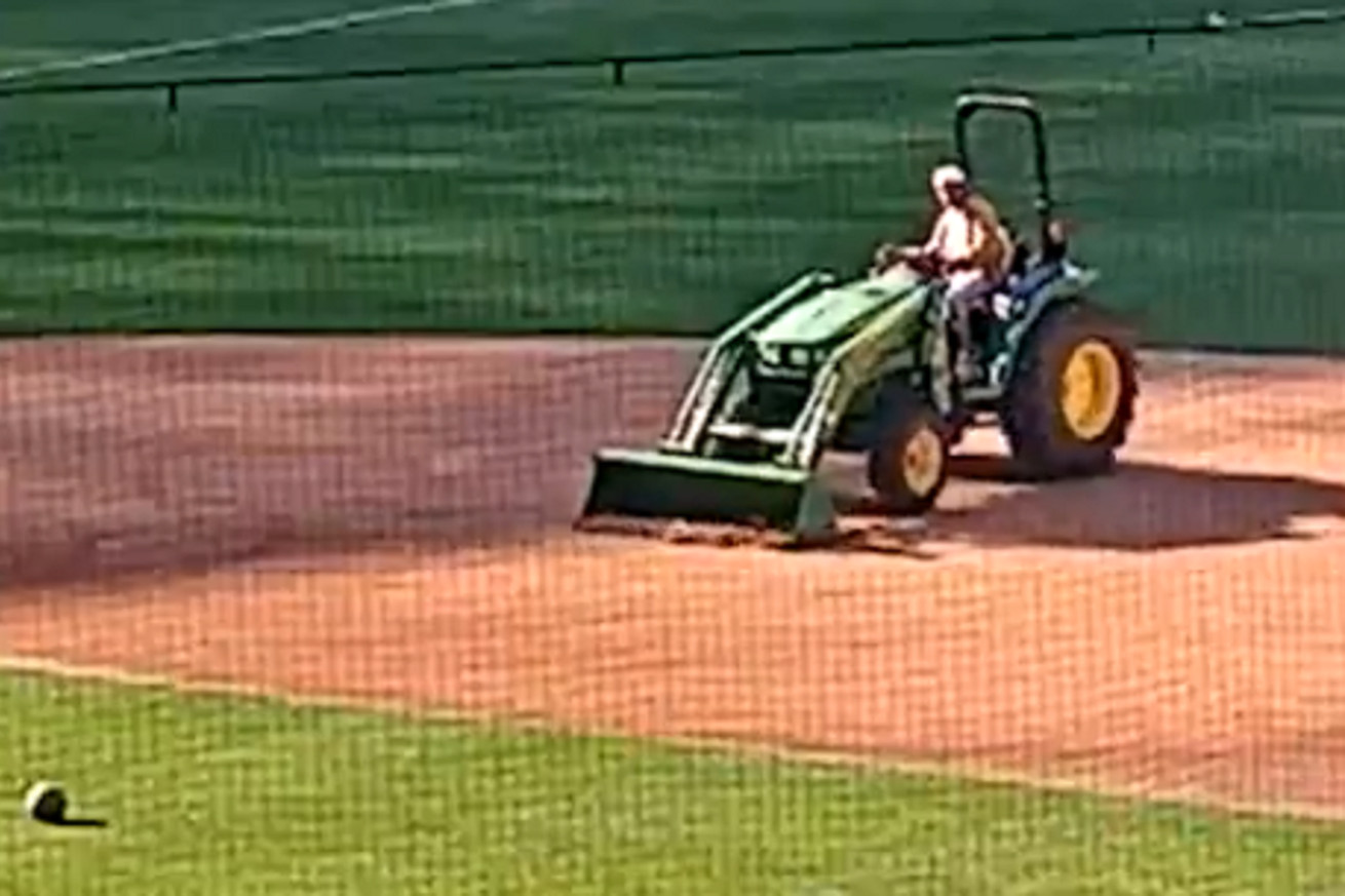 Untitled.0 - Man causes $40K in damages while trying to write his name on Brewers' field with tractor