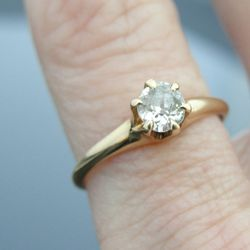 """<b>Market Square Jewelers</b> Victorian (late 1800s) Old Mine Cut Solitaire Engagement Ring on <b>Etsy</b>, <a href=""""http://www.etsy.com/listing/127887191/victorian-old-mine-cut-solitaire"""">$885</a>"""