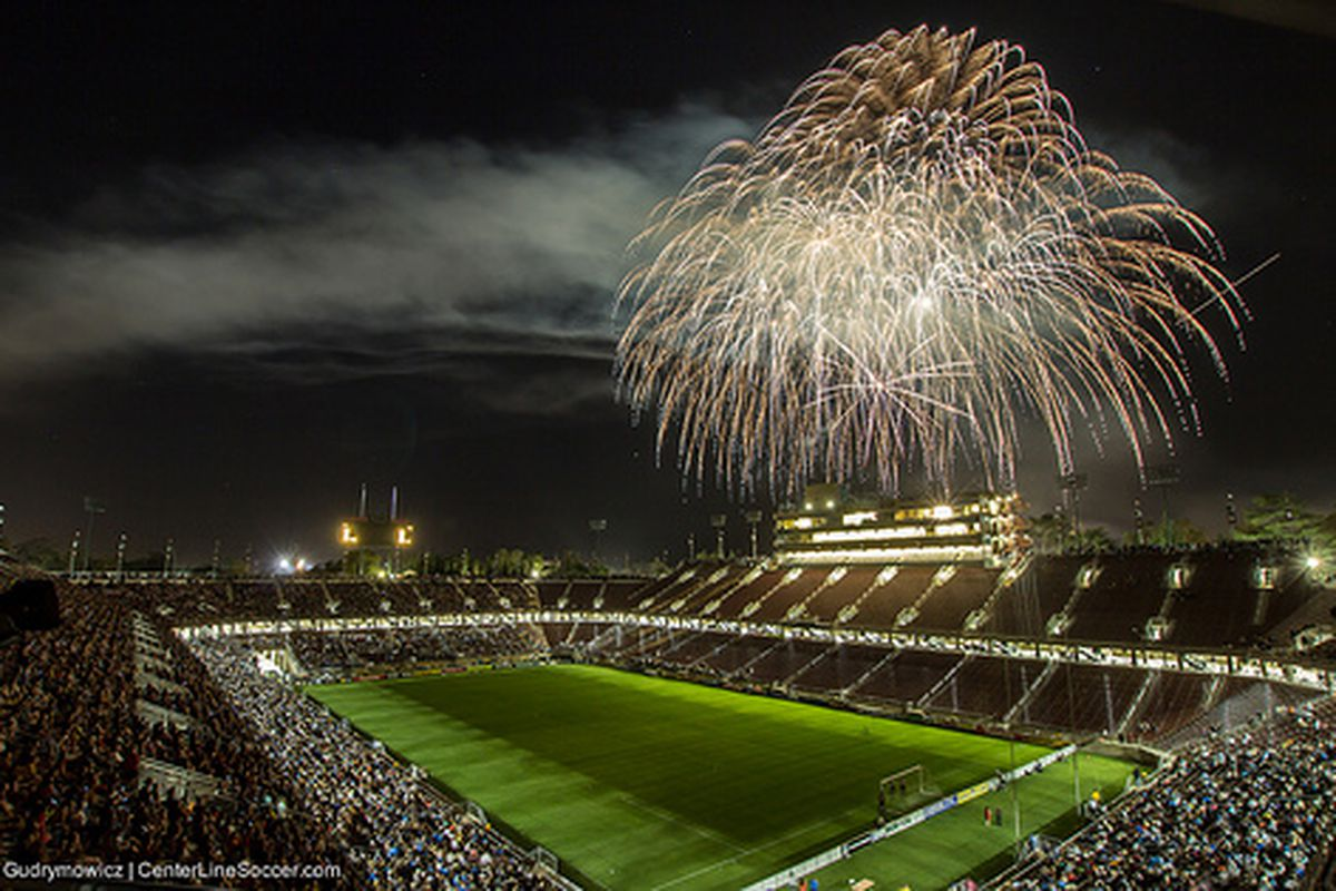 Fireworks were enjoyed by all, on and off the field