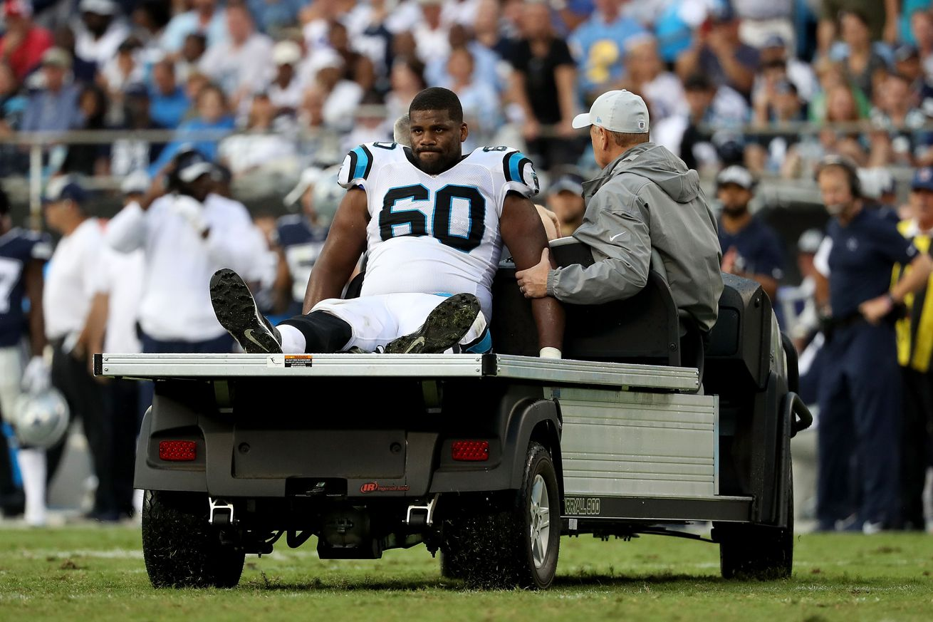 Panthers right tackle will miss Eagles game in Week 7