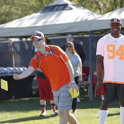 DeMarcus Ware and a Broncos fan