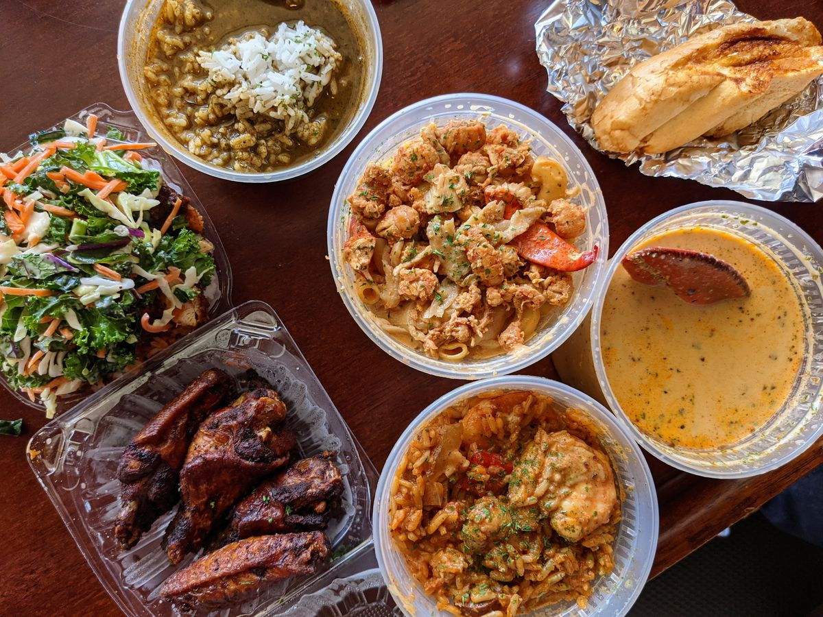Jambalaya and other Cajun delights from Chef C's Smhokin Pot in Carson.