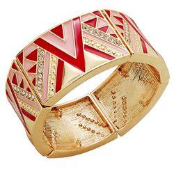 "Thalia Sodi Gold-Tone Red Tribal Crystal Stretch Bracelet, <a href=""http://www1.macys.com/shop/product/thalia-sodi-gold-tone-red-tribal-crystal-stretch-bracelet?ID=1881531&CategoryID=69930&LinkType=#fn=PAGEINDEX%3D2%26sp%3D2%26spc%3D68%26ruleId%3D%26slotI"