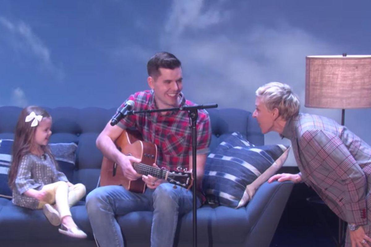 "Dave and Claire Crosby visit with Ellen Degeneres in Thursday's episode of ""Ellen."""