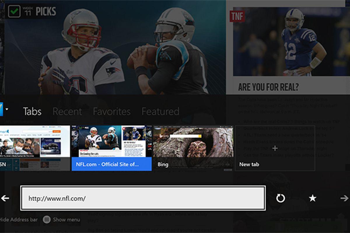 Xbox One Internet Explorer
