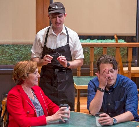 """Laura T. Fisher (from left), Andrew Jessop and Mike Tepeli in Mat Smart's """"Naperville,"""" at Theater Wit. (Photo: Charles Osgood)"""